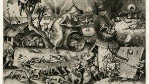 Die Welt von Bruegel in Schwarz-Weiß