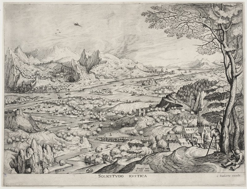 Bruegel, Solicitudo Rustica landscape.